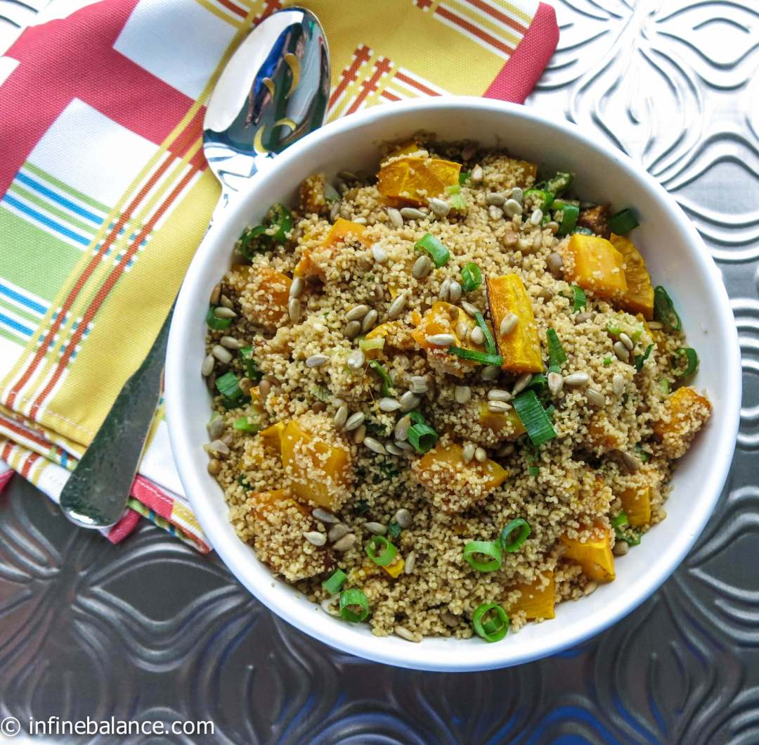 Whole Wheat Couscous with Roasted Pumpkin thanksgiving squash roasted pumpkin holiday food couscous butternut