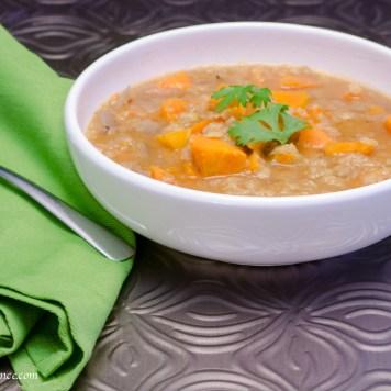 sweet potato soup | infinebalance.com