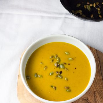 Roasted Butternut Soup with Coconut Milk | infinebalance.com