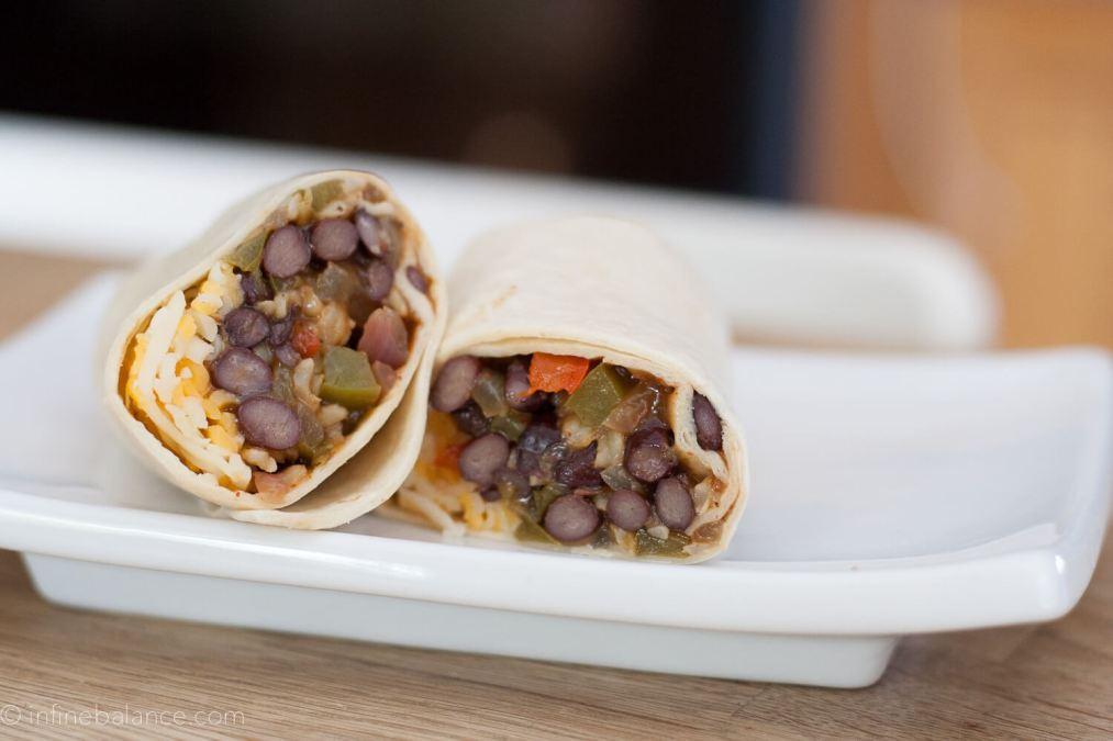 Freezer Black Bean Fajita Burritos