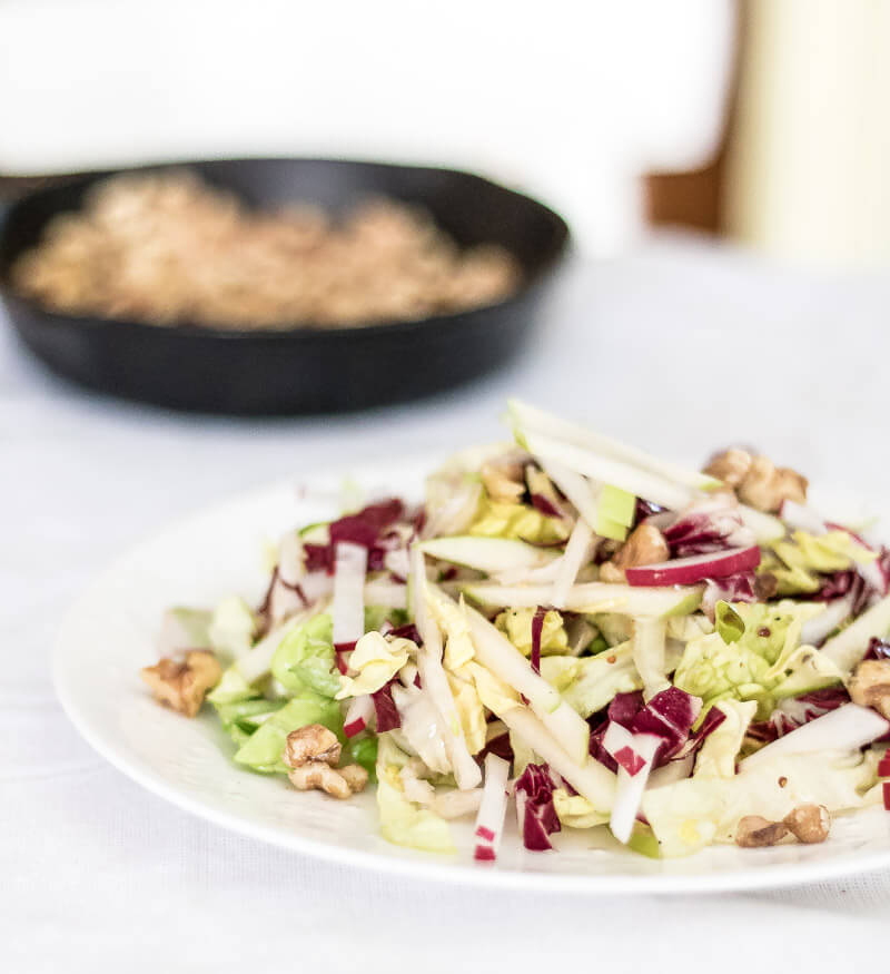 Apple and Radicchio Salad with Walnut Vinaigrette | infinebalance.com #recipe