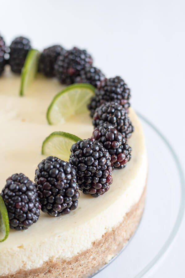 Key Lime Pie Cheesecake summer spring Mothers day lime easter cheesecake brunch blackberries