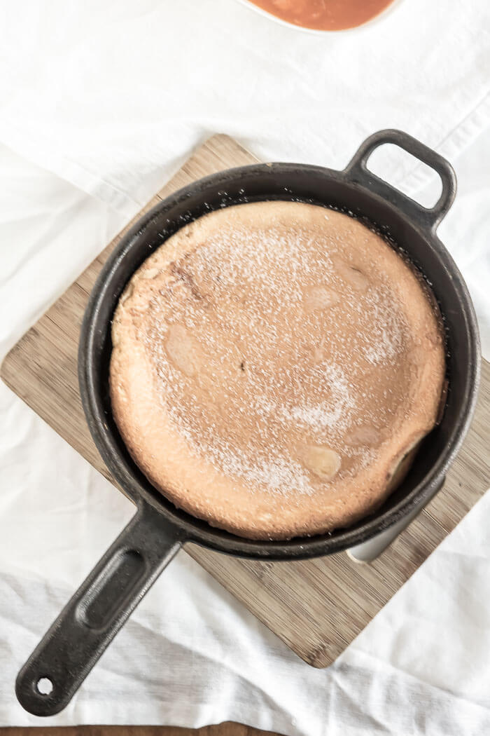 Apricot Dutch Baby Pancake | infinebalance.com #recipe #breakfast