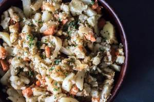 Roasted Turnip and Fall Vegetable Mash | infinebalance.com #recipe