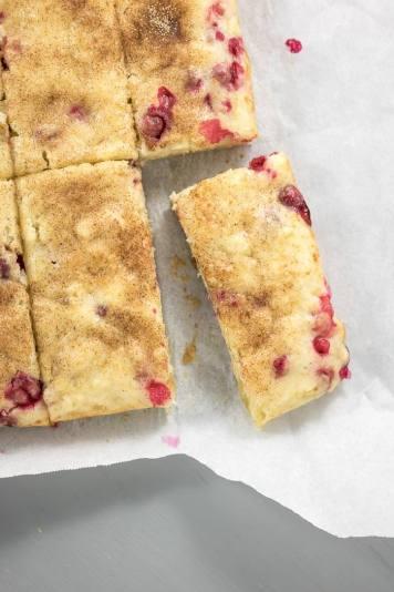 Vegan Cranberry Ginger Snack Cake   infinebalance.com