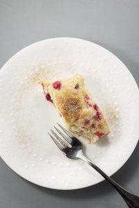 Vegan Cranberry Ginger Snack Cake | infinebalance.com