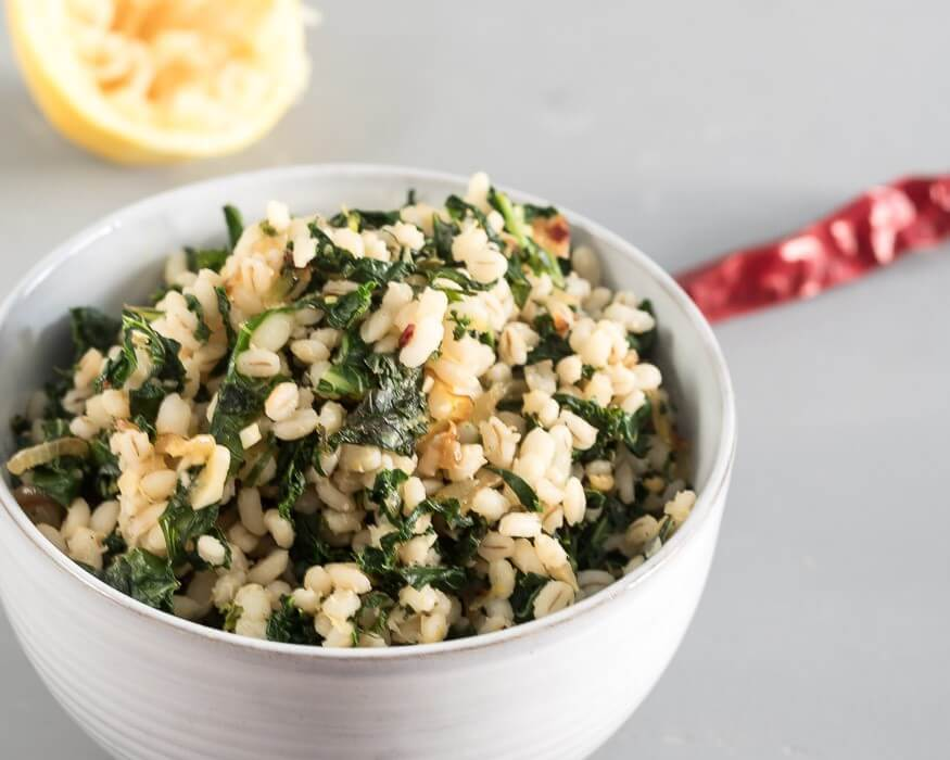 Barley with Lemon and Kale