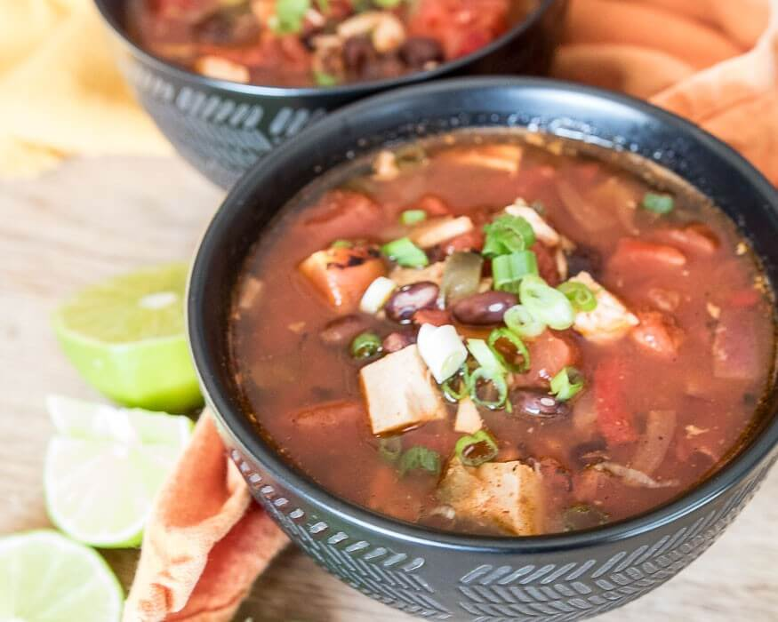 Spicy Turkey Enchilada Soup