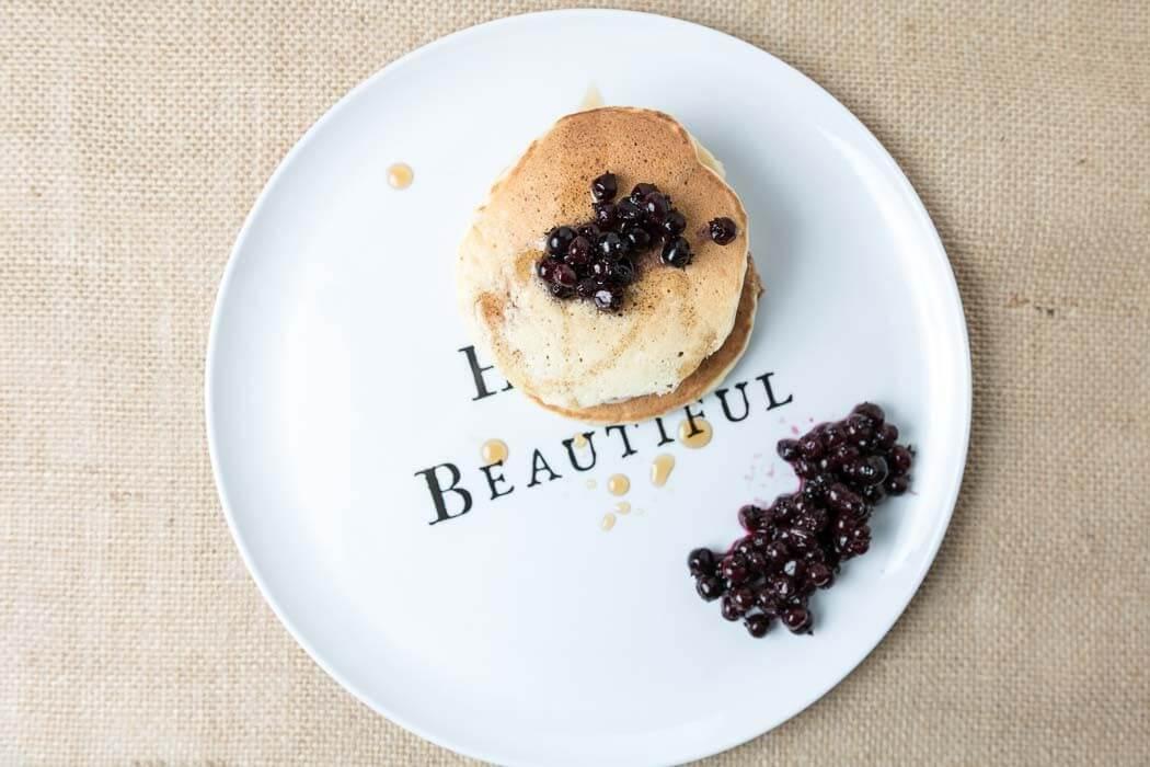 Fluffy Dairy-Free Banana Pancakes pancakes nut-free option egg whites dairy-free almonds