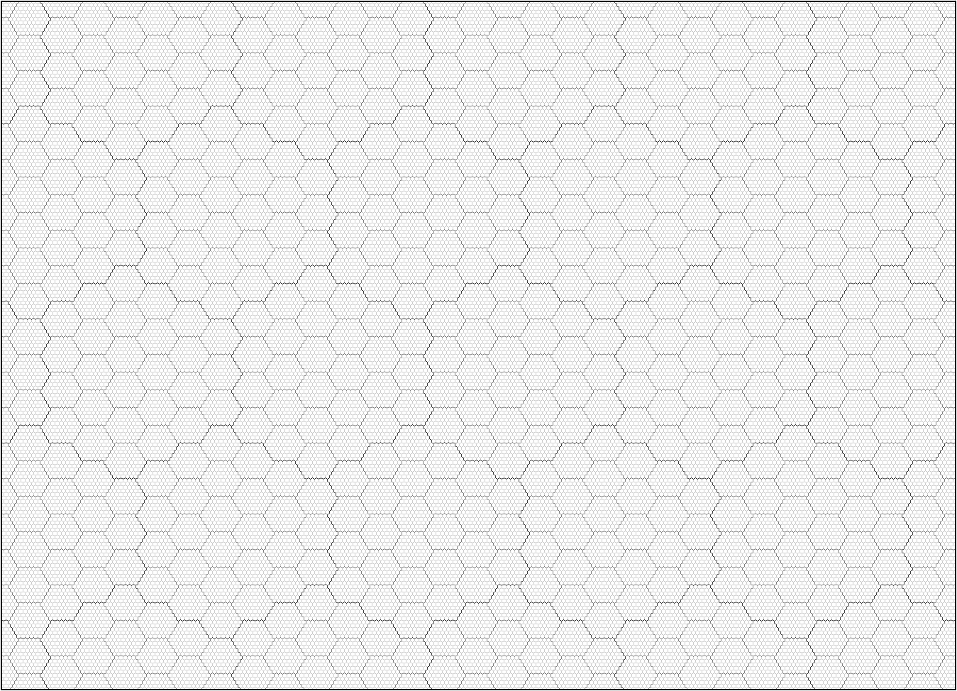 Hexagon Grid Paper