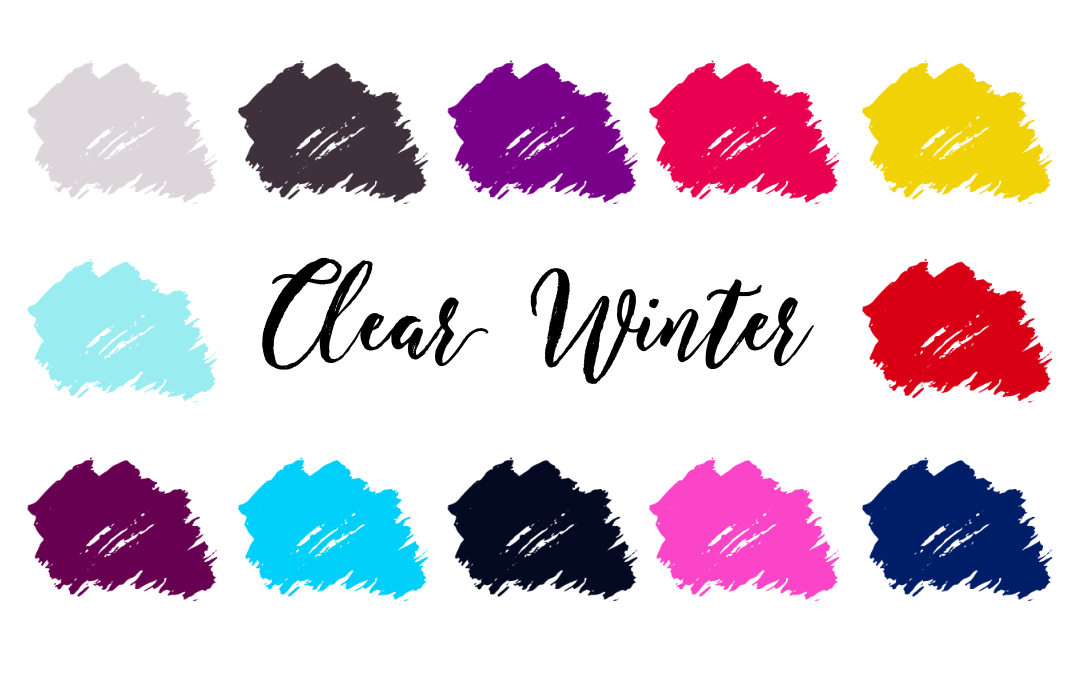 Clear Winter Palette (Bright Winter, Clear Cool)