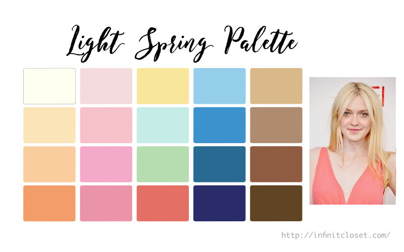 light spring palette light warm infinite closet