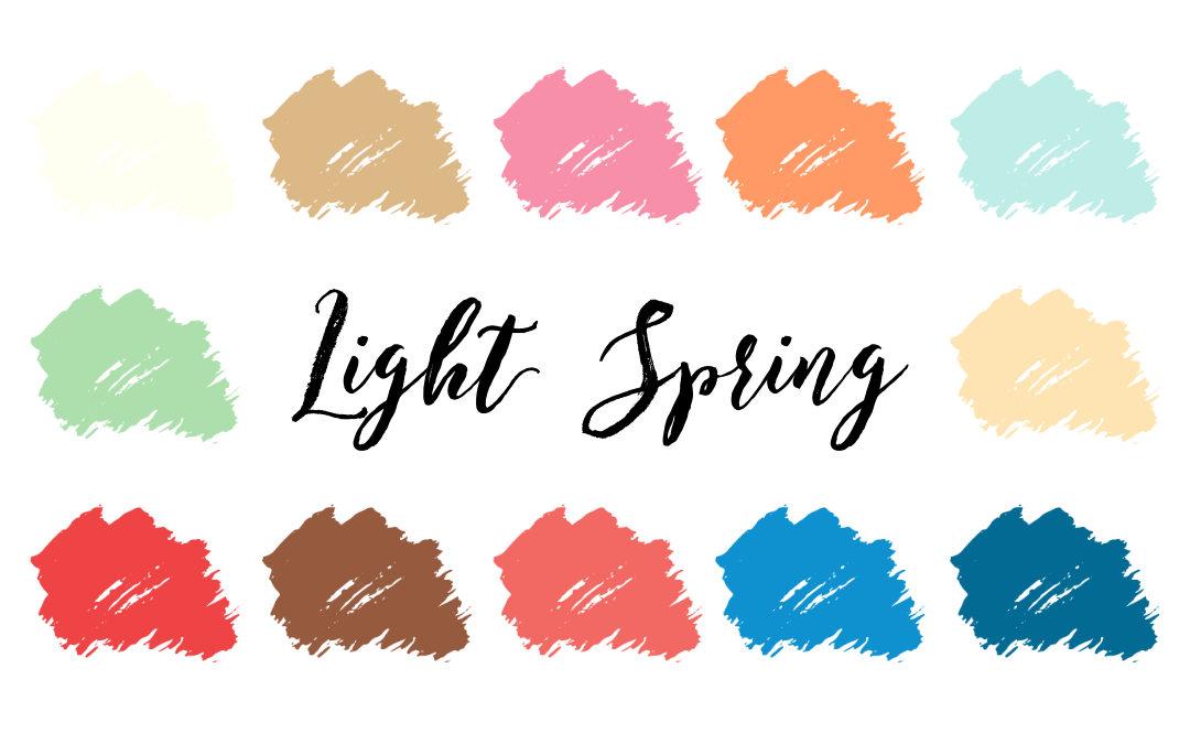 Light Spring Palette (Light Warm)