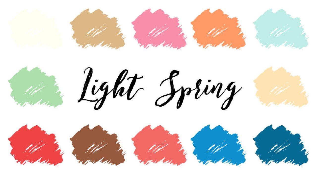 Light Spring Palette (Light Warm)  InfinitCloset