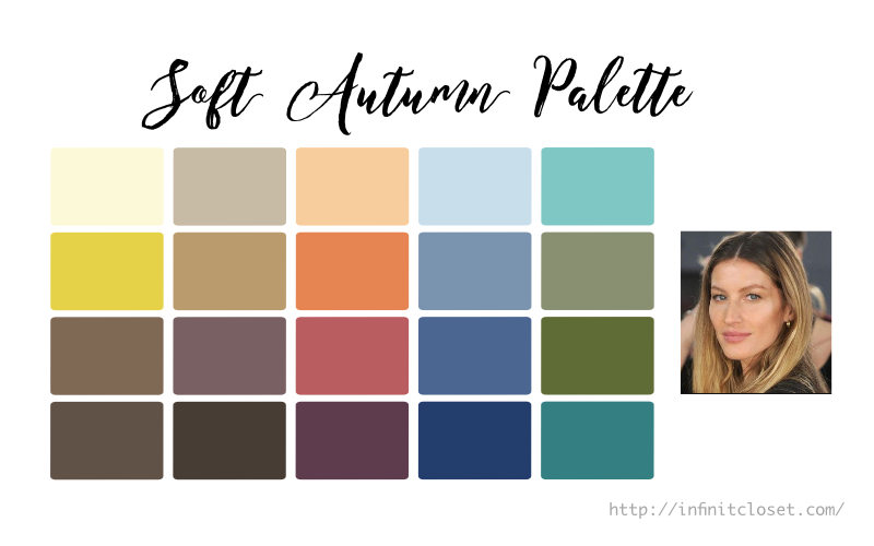 Some colors from the Soft Autumn palette