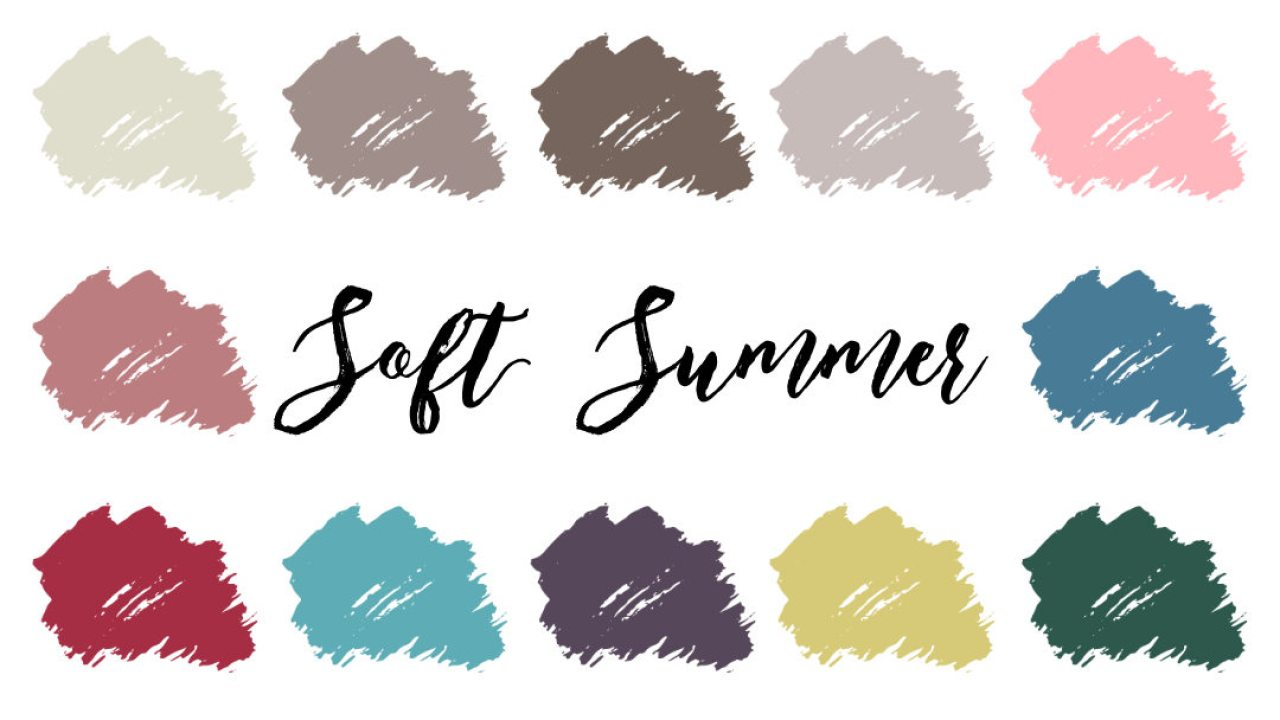 Soft Summer Palette Soft Cool Infinitcloset
