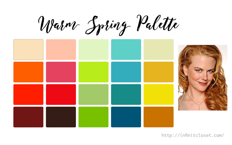 warm spring palette true spring warm clear infinite closet