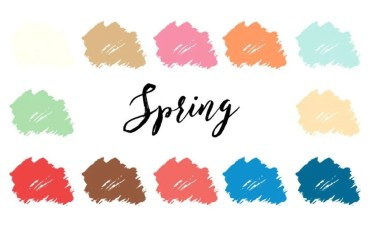 4 Seasons Color Analysis Spring Color Palette