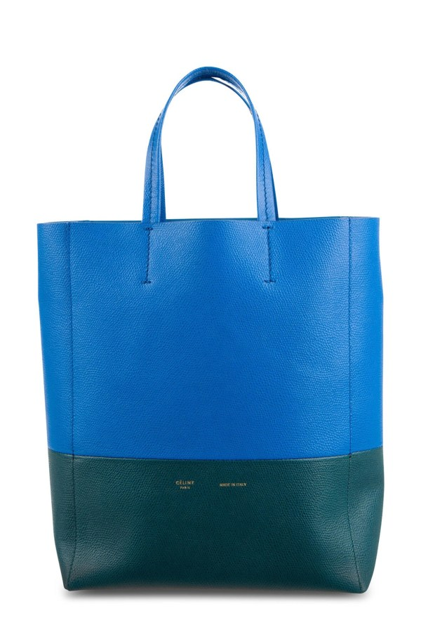 Style Theory Designer Bags_Celine Bicolour Small Vertical Cabas Tote