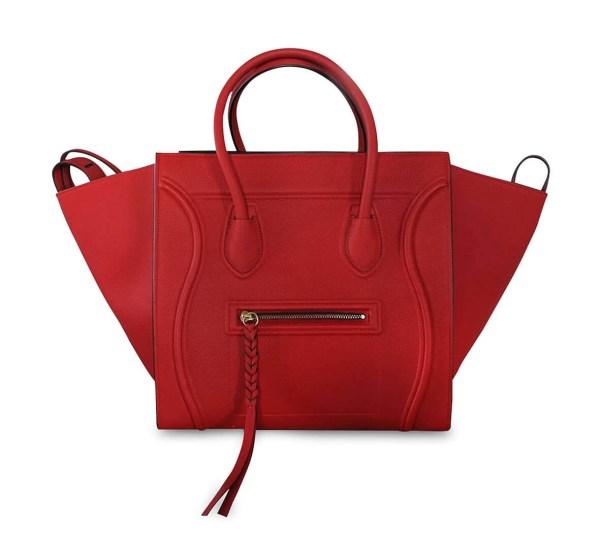 Style Theory Designer Bags_Celine Medium Phantom Red