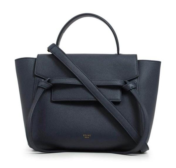Style Theory Designer Bags_Celine Micro Belt Bag Dark Navy