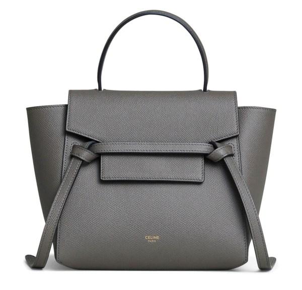 Style Theory Designer Bags_Celine Nano Belt Bag Grey