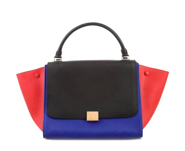 Style Theory Designer Bags_Celine Trapeze Medium Blue Red