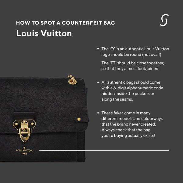 How to spot a counterfeit Louis Vuitton designer bag