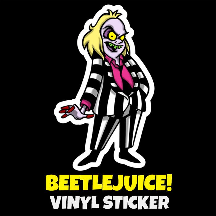 beetlejuice vinyl art sticker