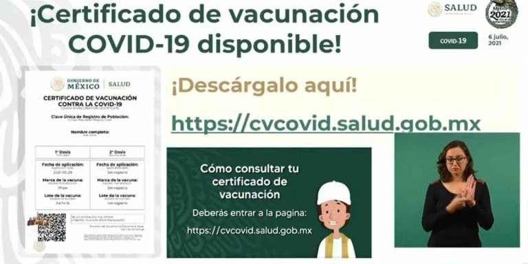certificado de vacunacion