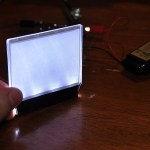 "The plexiglass ""screen,"" illuminated with little LEDs."