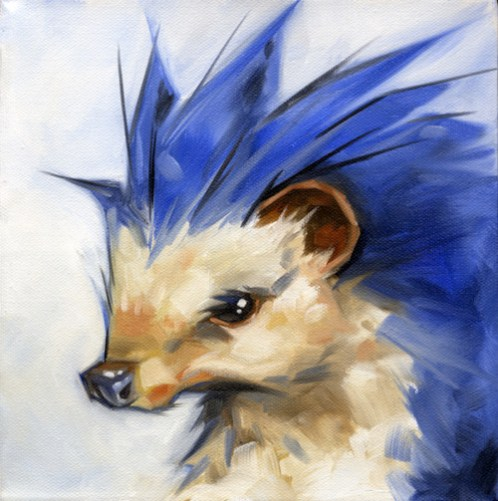 Sonic the Hedgehog, reenvisioned by Tyler Coey