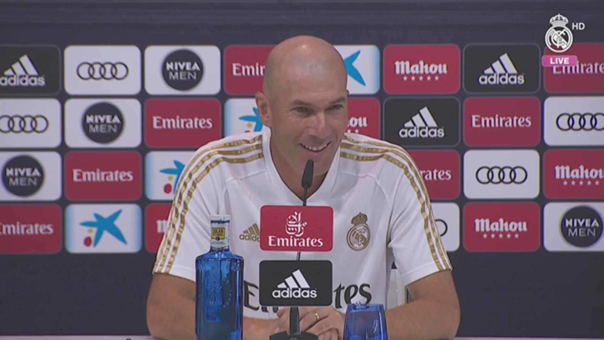 """Zidane: """"We're ready and happy to begin this new campaign"""""""