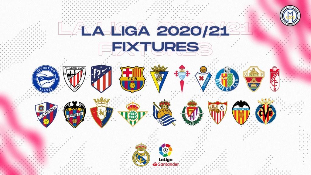 Revealed: Real Madrid's 2020/21 LaLiga fixtures