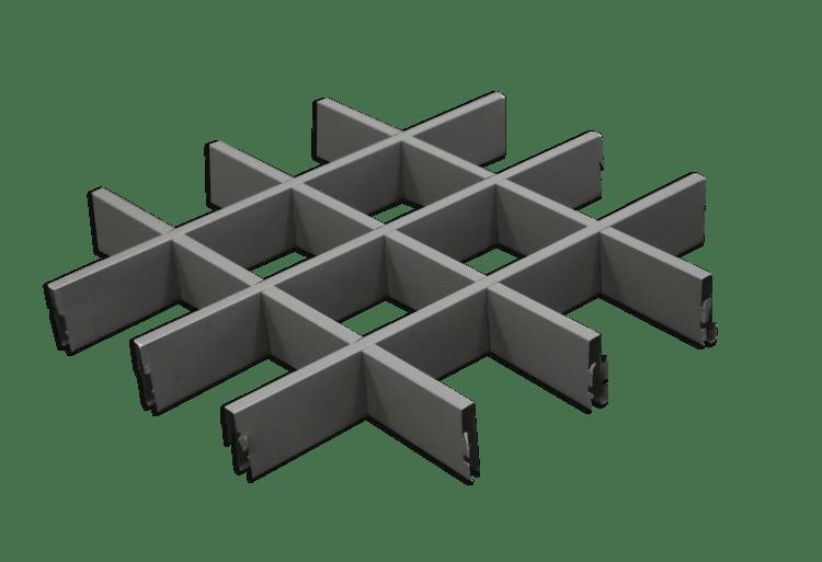 ฝ้าตะแกรงอลูมิเนียม ALU-CA1 Type A and B