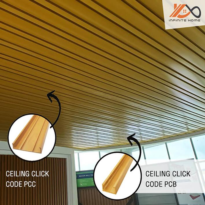 การติดตั้งไม้ฝ้าติดเพดาน PCB PCC ภายใน