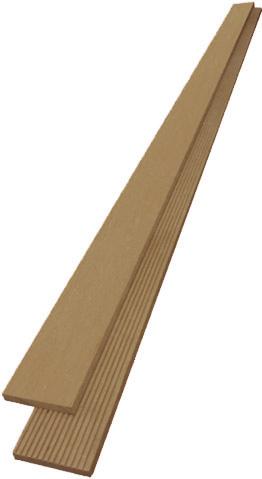 ไม้รั้ว ไม้ระแนง R สี Teak