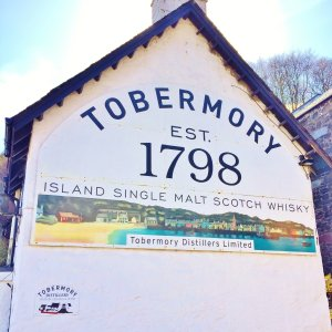 Tobermory whisky distillery, founded 1798, in the Isle of Mull
