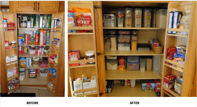 """By using these 3 easy Kitchen Organization tips you will find yourself saving at least 30% of space in the """"after"""" life of your cupboard"""