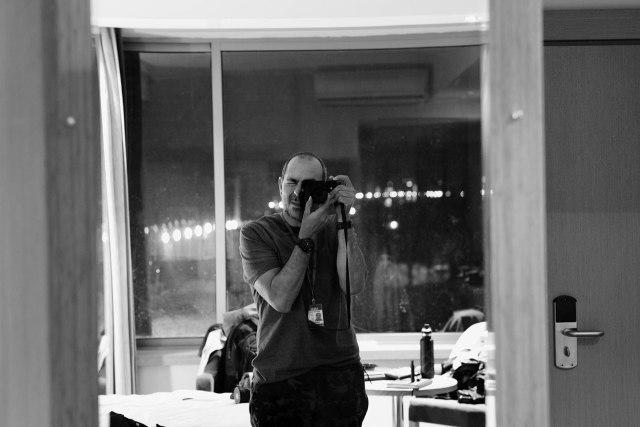 Alex Testando a Leica MP-240 em Erbil, Iraque