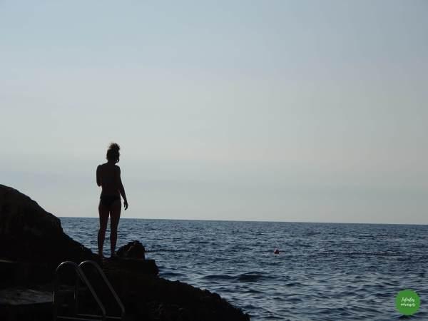 Segundo baño en el mar Adriático rovinj