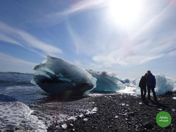 Visita al Lago glaciar Jökulsárlón, la playa de los Diamantes y Fjallsárlón