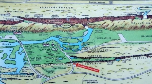 Mapa Parque Nacional Thingvellir