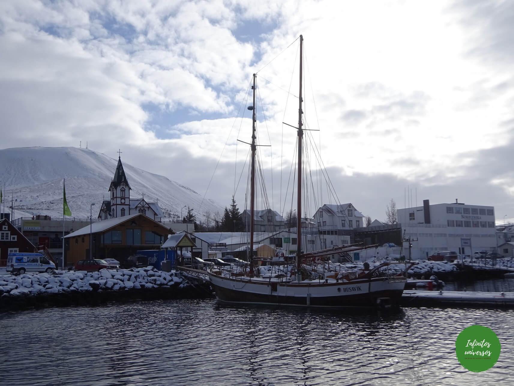 Puerto de Húsavík ballenas