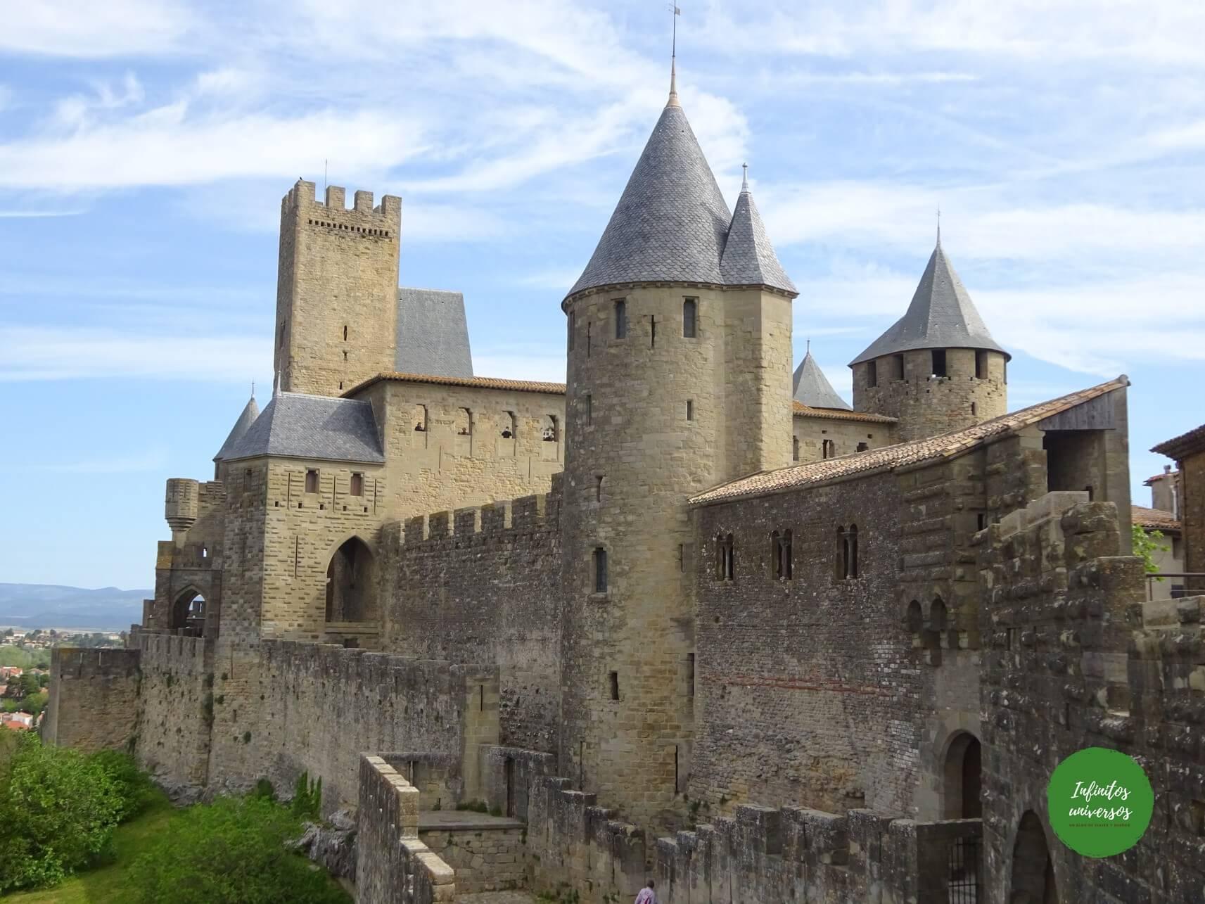 Que ver en Carcassonne mapa pais cataro - Europa en verano