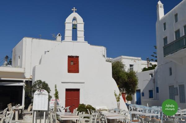 Iglesia en Mykonos que ver en mykonos grecia