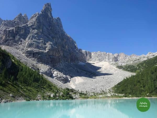 Lago di Sorapis - Que ver en los Dolomitas trekking dolomitas