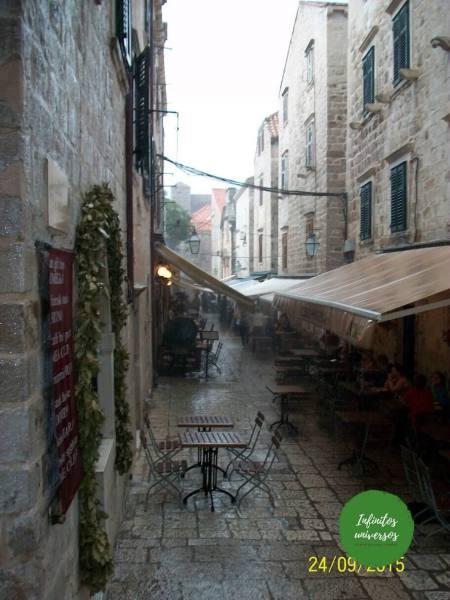 Dubrovnik bajo la lluvia