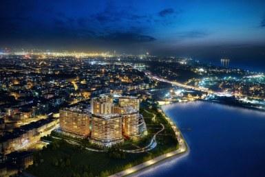 شقق في اسطنبول على البحيرة في مجمع بلو ليك