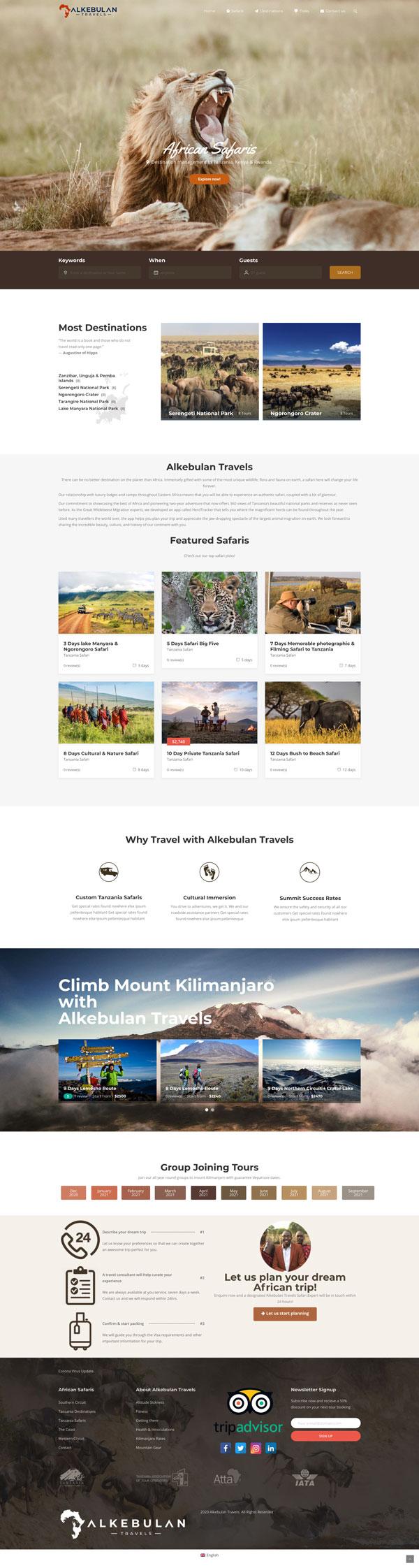 Alkebulan Travels Website